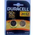 Duracell Brand DL2032 - CR2032 Lithium Battery - Cards of 2 batteries