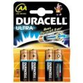 Duracell Ultra M3 MN1500 Alkalkine Battery AA/Pack of 4