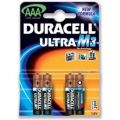 Duracell Ultra M3 MN2400 Alkaline Battery AAA/Pack of 4