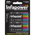 Infapower 1.2v 2500mAh rechargeable Ni-Mh D cell