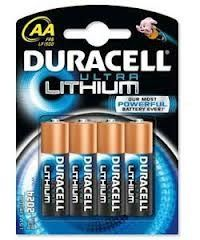 Duracell Ultra Lithium AA Battery - pack of 4
