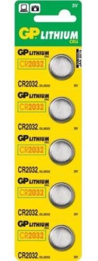 GP Brand CR2032 Lithium Battery - cards of 5