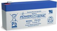 PS832 Box of 10 Power-Sonic 8v 3.2Ah SLA Battery