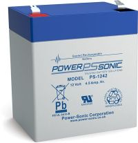 Box of 2 x Power-Sonic PS1242 12v 4.5Ah rechargeable Battery