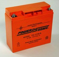 Power-Sonic PS12180 Box of 2 x 12v 18Ah rechargeable SLA Battery