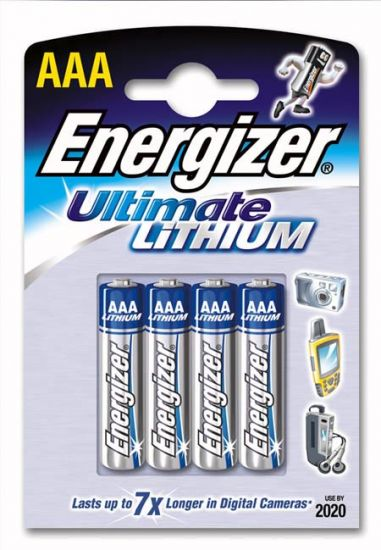Energizer L92 AAA Lithium Battery Pack of 4